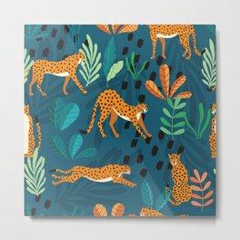 Cheetah pattern 001 Metal Print