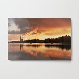 Oulu Metal Print