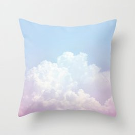 Dreamy Cotton Blue Sky Throw Pillow