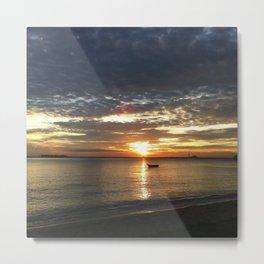 Chasing The Sunset At Koh Samui Metal Print