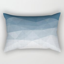 Imperial Topaz - Geometric Triangles Minimalism Rectangular Pillow
