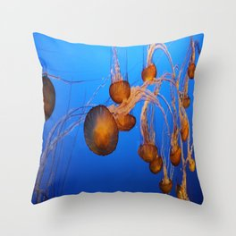Floating In Blue Water Throw Pillow