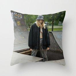 Sk8 0r d13 Throw Pillow