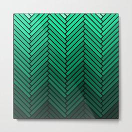 Parquet All Day - Black & Verde Metal Print