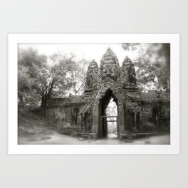 Daydreaming in the historical Cambodian Angkor Was National Park Art Print