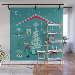 Retro Holiday Decorating ii Wall Mural