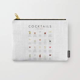 Cocktail Chart - Classic Cocktails Carry-All Pouch