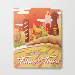 Visit FlavorTown Metal Print