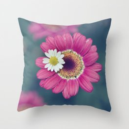 The Daisy Sitter Throw Pillow