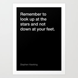 Stephen Hawking quote about stars [Black Edition] Art Print
