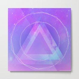 Galaxy triangle Metal Print