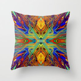 Fiesta Firegrass by Chris Sparks Throw Pillow