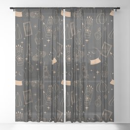 Mystical Halloween Sheer Curtain