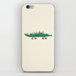 Crocodile on Roller Skates iPhone Skin