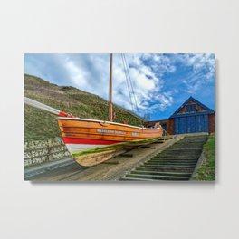 North Landing Lifeboat Station Metal Print