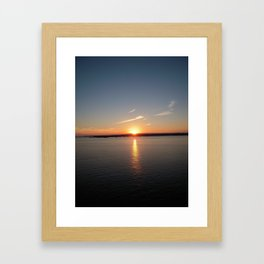 NEWPORT SUNSET Framed Art Print