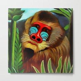 """Henri Rousseau """"Mandrill in the jungle"""" Metal Print"""