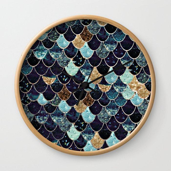 REALLY MERMAID - MYSTIC BLUE Wall Clock