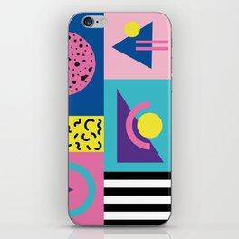 Memphis pattern 53 - 80s / 90s Retro iPhone Skin