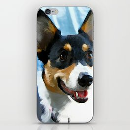 Tri Color Welsh Pembroke Corgi iPhone Skin
