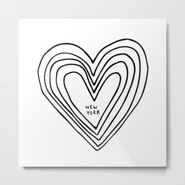 All Day. Every Day. Heartbeats for NYC. Metal Print