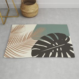Minimal Monstera Palm Finesse #1 #tropical #decor #art #society6 Rug