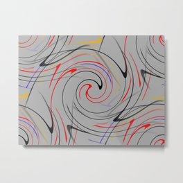 Abstract Action Metal Print