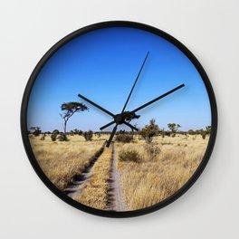 Path through Africa - Central Kalahari, Botswana Wall Clock