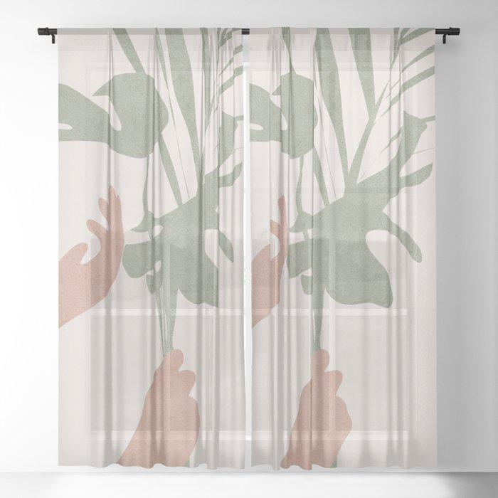 Leafs Sheer Curtain