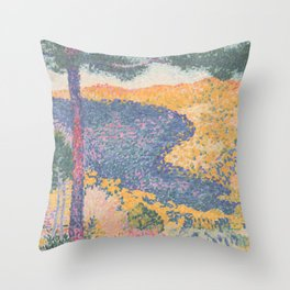 Valley with Fir (Shade on the Mountain) by Henri-Edmond Cross1909, French Throw Pillow