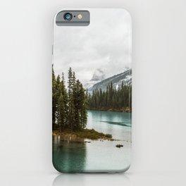 Emerald Spirit Island | Landscape Photography | Maligne Lake | Jasper Alberta iPhone Case