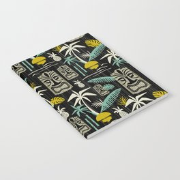 Island Tiki - Black Notebook