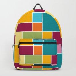 Big Blocks - Bohemian Squares and Rectangles Backpack