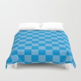 blue chess - blue squares Duvet Cover