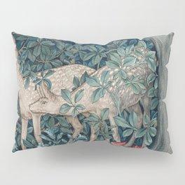 William Morris Forest Deer Greenery Tapestry Pillow Sham