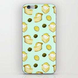 key lime pie pattern // pie lover iPhone Skin
