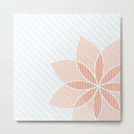 Floral Stripes Metal Print