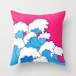 As the waves roll in Throw Pillow