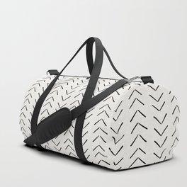 Mud Cloth Big Arrows in Cream Duffle Bag