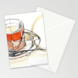 morning orange Stationery Cards