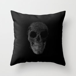 Sk(etch)ull Throw Pillow