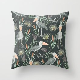 The Magnificent Shoebill Pattern Throw Pillow