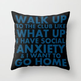 "Request-""What Up"" Throw Pillow"