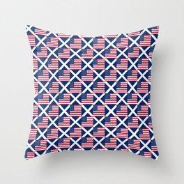 Mix of flag: usa and scotland Throw Pillow