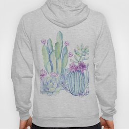 Mixed Cacti White #society6 #buyart Hoody