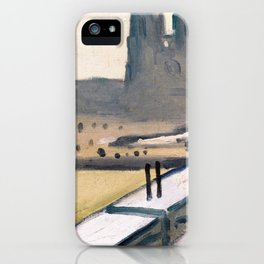 Notre Dame cathedral abstract iPhone Case