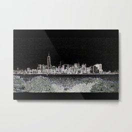 Manhattan Skyline DPPA140816a Metal Print