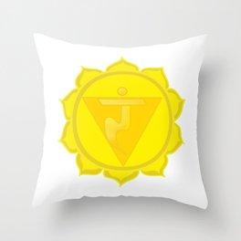 Manipura Chakra Solar Plexus chakra Yoga Throw Pillow