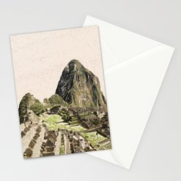 ArtWork Painting Machu Picchu Peru Paint Art Print Stationery Cards