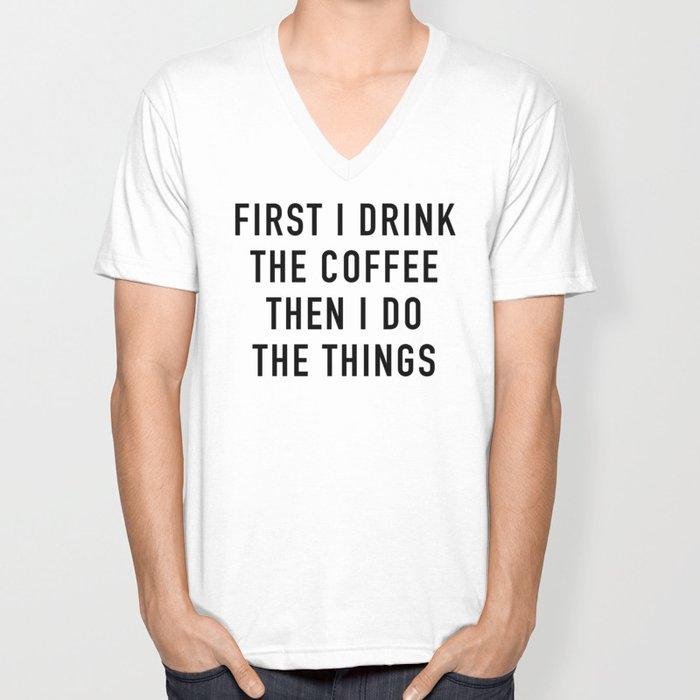 Coffee Unisex V-Ausschnitt
